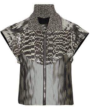 Rick Owens Paneled Snakeskin Cotton-Blend Jacquard And Printed Silk-Georgette Jacket