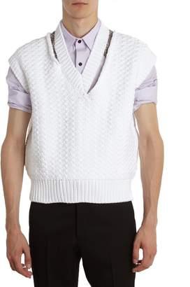 Raf Simons Cotton Cropped Vest