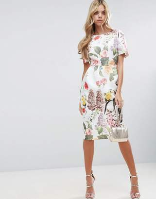 ASOS Floral Print Wiggle Dress $79 thestylecure.com