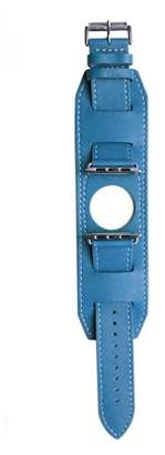 Mgear Leather Band for 42MM Apple Watch - Blue