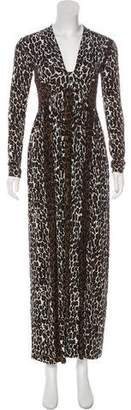 Nadia Tarr Animal Print Maxi Dress