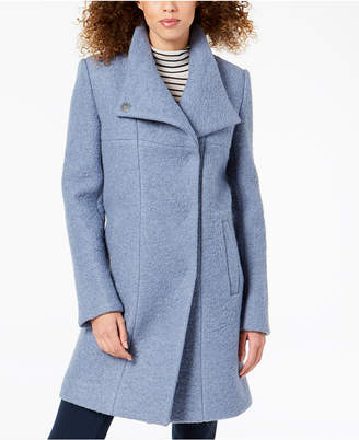 Kenneth Cole Asymmetrical Boucle Walker Coat