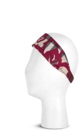 Printed Twill Heart Headband