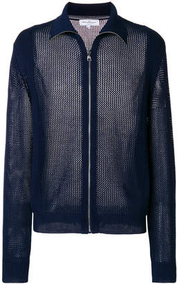 Salvatore Ferragamo mesh bomber jacket
