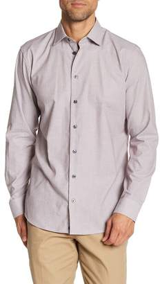 14th & Union Micro Stripe Long Sleeve Trim Fit Shirt