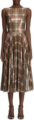 Ralph Lauren Arwen Embellished Plaid Dress