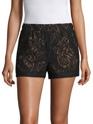 BCBGMAXAZRIA Lace Shorts $158 thestylecure.com