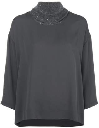 Fabiana Filippi ribbed neck blouse