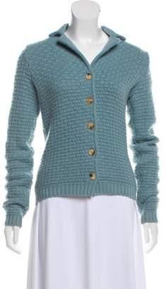 Loro Piana Cashmere Button-Up Cardigan blue Cashmere Button-Up Cardigan