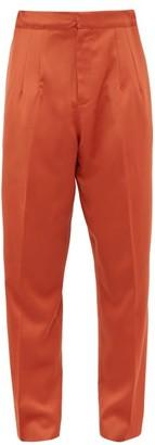 Marques Almeida Marques'almeida - Oversized Virgin Wool Trousers - Mens - Orange