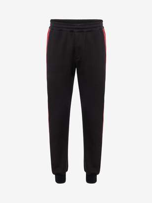 Alexander McQueen Leather Side Band Track Pants