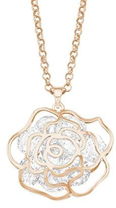 Swarovski Noelani Women's Chain with Pendant Partially Gold-Plated Brass Rose Gold Plated Elements Crystal 80 cm White 565769