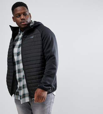 Jack and Jones Core Plus Size Multi Quilted Jacket