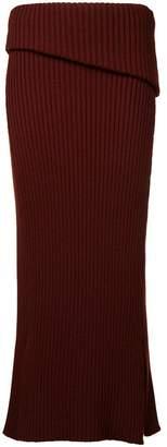 Jacquemus knitted midi skirt