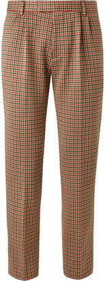Gucci Slim-Fit Cotton-Blend Houndstooth Trousers $720 thestylecure.com