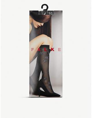 Falke Ephemeral floral knee-high socks