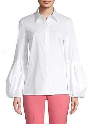 13bf8bbb Michael Kors Women's Puff Sleeve Button-Down Shirt