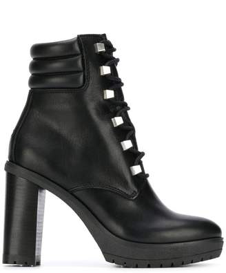 Tommy Hilfiger studded lace-up boots