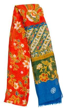 Tory Burch Patterned Woven Shawl