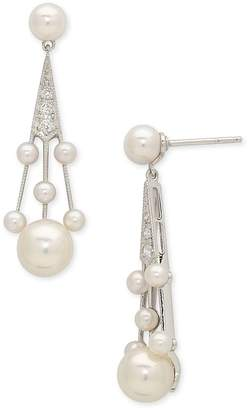 Mikimoto 'Legacy Collection' Akoya Cultured Pearl & Diamond Earrings