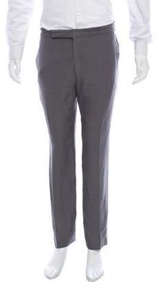 Ralph Lauren Purple Label Silk-Blend Flat front Pants