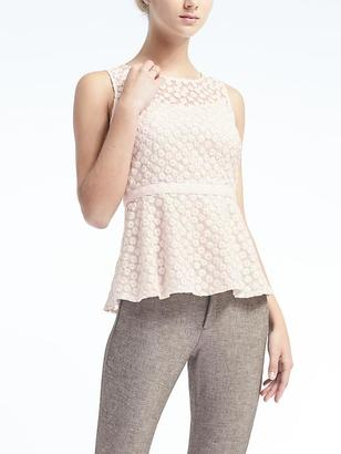 Embroidered Floral Peplum Top $78 thestylecure.com
