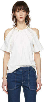 Chloé White Cut-Out T-Shirt