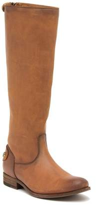 Frye Melissa Button Back Zip Leather Boot