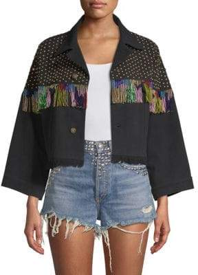 The Kooples Studded Denim Jacket