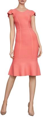 BCBGMAXAZRIA Fluted Bodycon Dress