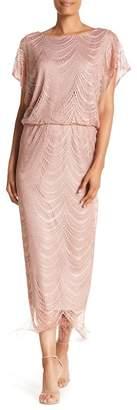 SL Fashions Crochet Knit Short Sleeve Dress