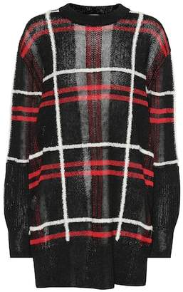McQ Plaid linen and wool-blend sweater