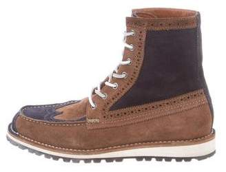 DSQUARED2 Suede Semi-Brogue Ankle Boots