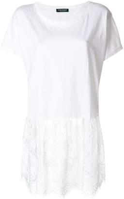 Twin-Set lace hem T-shirt