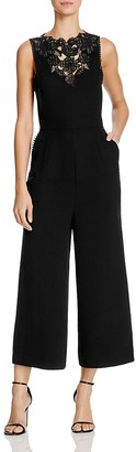 Whistles Embroidered Cutwork Jumpsuit $530 thestylecure.com