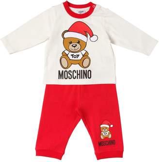 Moschino Christmas Printed Cotton T-Shirt & Pants