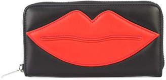 Yazbukey lips appliqué wallet