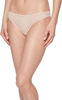 DKNY Women's Modern lace Trim Thong