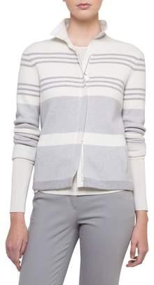 Akris Stripe Knit Cashmere Jacket