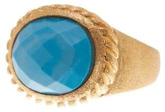 Rivka Friedman Twisted Bezel Set Oval Magnesite Satin Ring