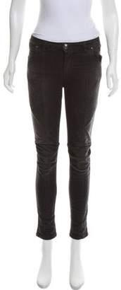 Pierre Balmain Mid-Rise Moto Jeans