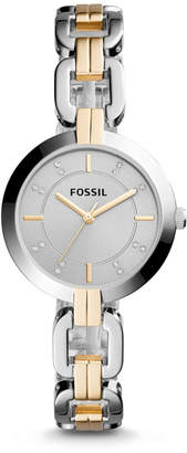 Fossil Kerrigan Three-Hand Two-Tone Stainless Steel Watch
