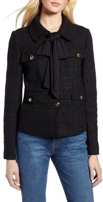 Halogen x Atlantic-Pacific Bow Detail Tweed Jacket