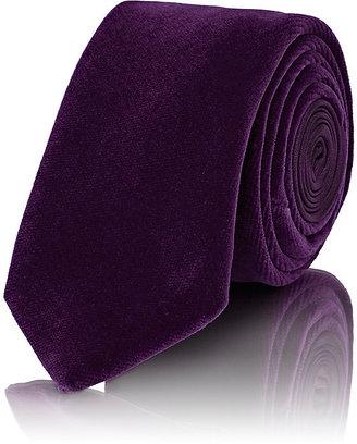 Penrose London Men's Velvet & Satin Necktie $175 thestylecure.com
