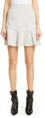 Isabel Marant Kelly Flutter Hem Cotton & Linen Skirt