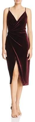 Betsey Johnson Velvet Faux-Wrap Dress