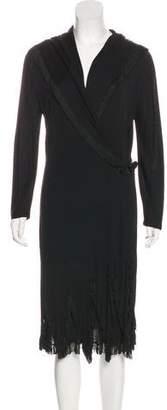 Jean Paul Gaultier Fringe-Trimmed Wrap Dress