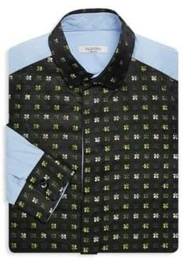 Valentino Leaf Print Button-Down Shirt