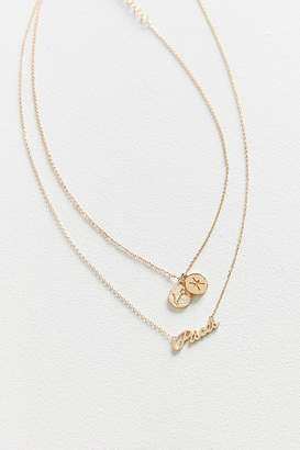 Urban Outfitters Zodiac Layering Charm Necklace Set