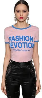 Dolce & Gabbana Fashion Devotion Printed Jersey T-Shirt